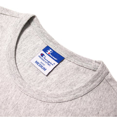 CHAMPION - BEAMS CREWNECK T-SHIRT - OXFORD GREY