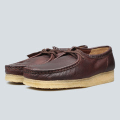 CLARKS ORIGINALS - WALLABEE - BROWN LEATHER