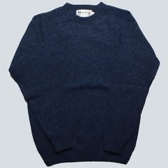 HARLEY OF SCOTLAND - LAMBSWOOL JUMPER - DENIM BLUE