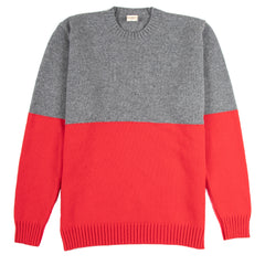 Country of Origin - Updown Lambswool Crew - Red