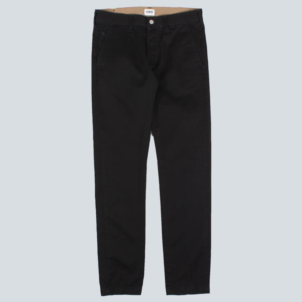 EDWIN - 55 CHINO - BLACK RINSED
