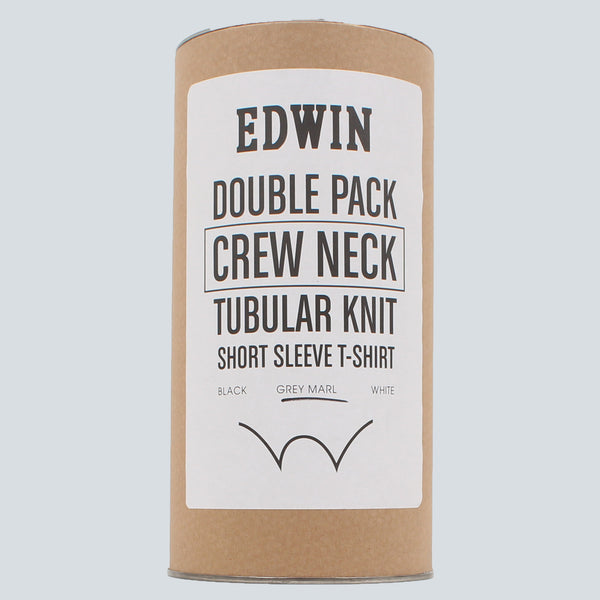 EDWIN - DOUBLE PACK SS T-SHIRT - GREY