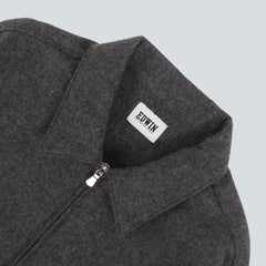 EDWIN - INDUSTRY ZIP SHIRT - GREY MARL