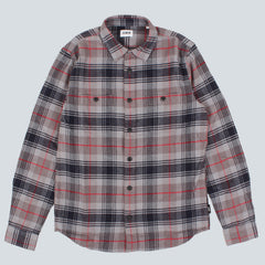 EDWIN - LABOUR CHECK FLANNEL SHIRT - GREY