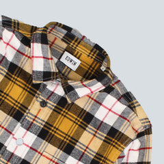 EDWIN - LABOUR CHECK FLANNEL SHIRT - MUSTARD
