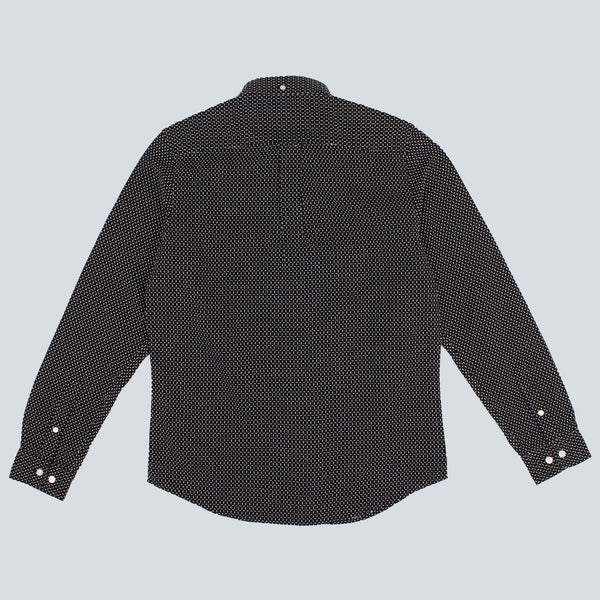 EDWIN - STANDARD SHIRT - BLACK / WHITE