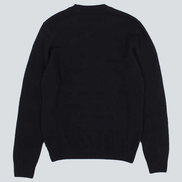 EDWIN - STANDARD STRIPED LAMBSWOOL SWEATER - NAVY