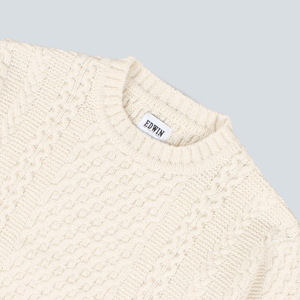 EDWIN - UNITED SWEATER - NATURAL