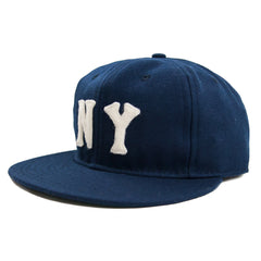 EBBETS FIELD - NEW YORK BLACK YANKEES 1936 6 PANEL STRAP BACK CAP - NAVY