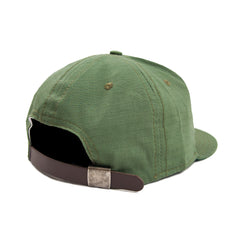 EBBETS FIELD - RIP-STOP 6 PANEL STRAP BACK CAP - OLIVE DRAB