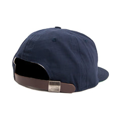 EBBETS FIELD - RIP-STOP 6 PANEL STRAO BACK CAP - NAVY