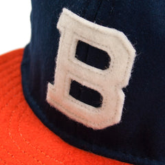 EBBETS FIELD - BROOKLYN BUSHWICKS 1949 6 PANAL STRAP BACK CAP - NAVY