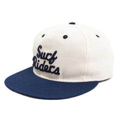 EBBETS FIELD - SF SURF RIDERS CALVARY 6 PANEL STRAP BACK CAP - NAVY / CREME