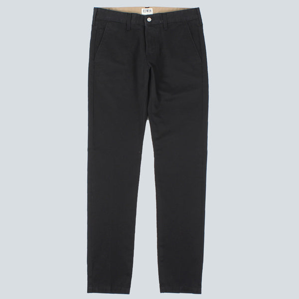 Edwin - 55 Chino Compact Twill - Black Rinsed