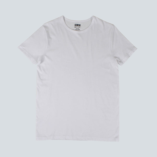 EDWIN - DOUBLE PACK SS TEE - WHITE