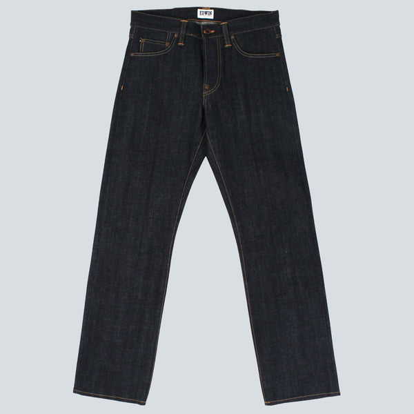 Edwin - ED-39 Regular Loose Red Listed Selvage Denim - Blue Unwashed