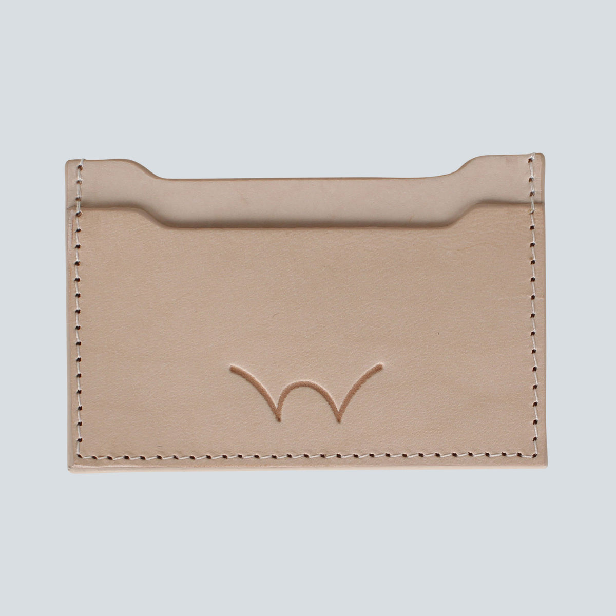 EDWIN - ITALIAN LEATHER CARDHOLDER - NUDE