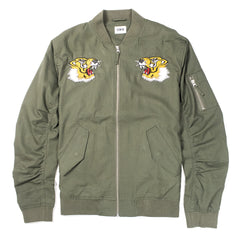 EDWIN - FLIGHT SOUVENIR JACKET - MILITARY GREEN
