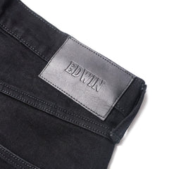 EDWIN - ED-55 WHITE LISTED BLACK SELVAGE - BLACK RINSED
