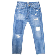 EDWIN - ED 55 63 RAINBOW SELVAGE - BLUE PULLED WASH