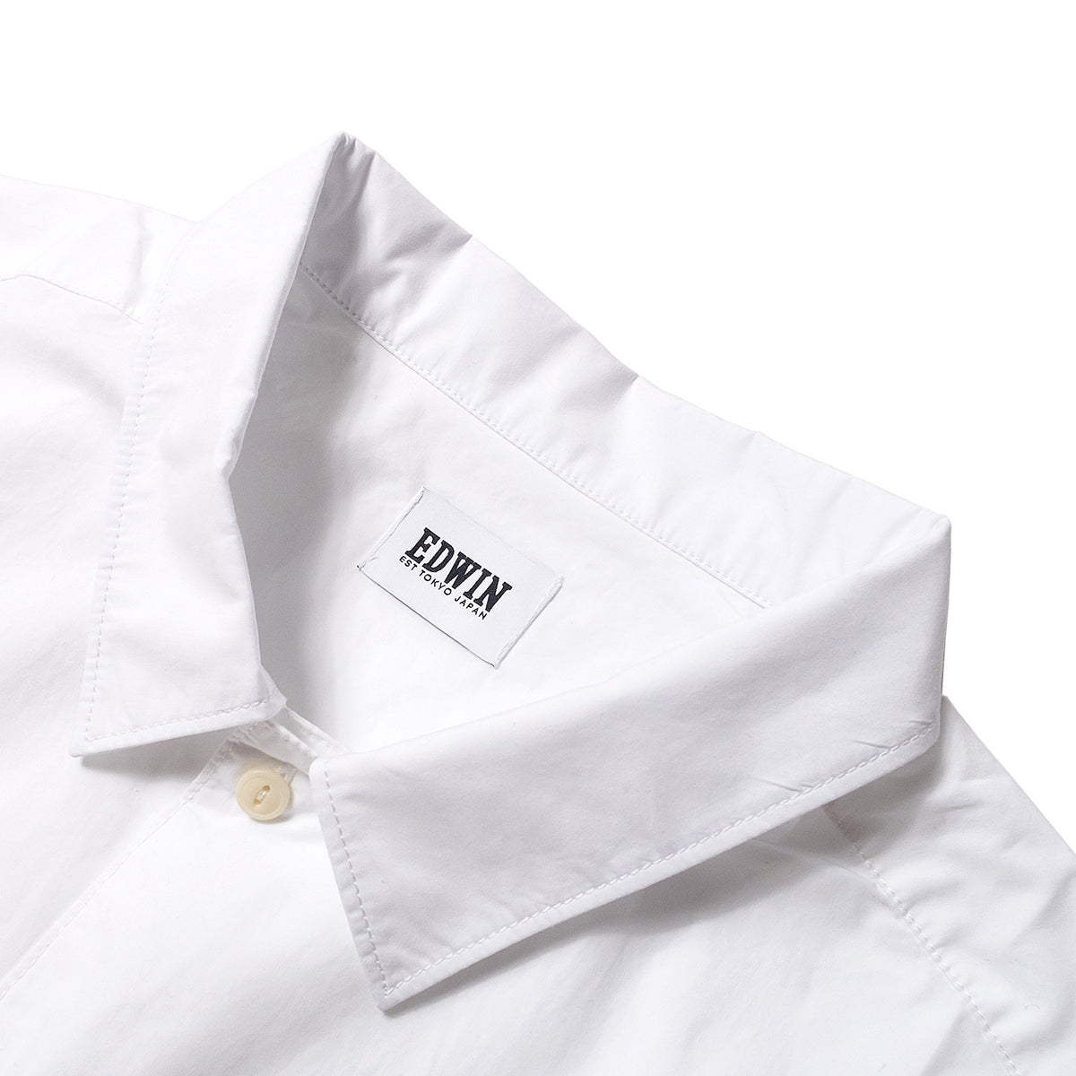 Edwin - Pocket Bowling Shirt - White