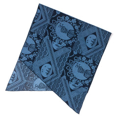 ENGINEERED GARMENTS - LONG SCARF - BLU/NAVY ETHNIC PRINT