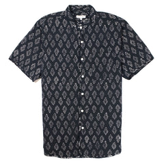 ENGINEERED GARMENTS - COPLEY SHIRT - NAVY LEAF PRINT