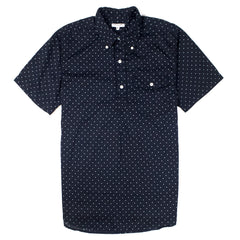 ENGINEERED GARMENTS - POPOVER BD SHIRT - NAVY POLKA DOT
