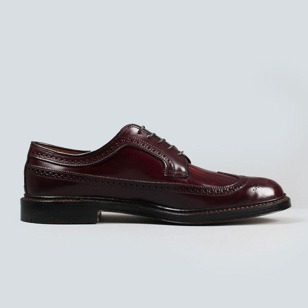 alden longwing blucher - dark burgundy cordovan, inner side view
