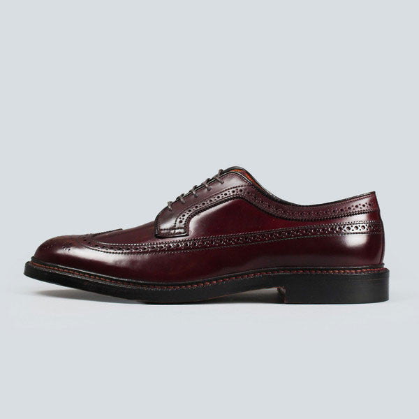 alden longwing blucher - dark burgundy cordovan, outer side view