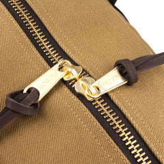 FILSON - TOTE BAG WITH ZIPPER - DARK TAN