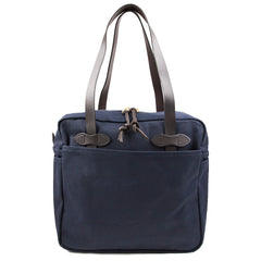 FILSON - TOTE BAG WITH ZIPPER - NAVY