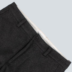 GANT RUGGER - WOOLY TROUSERS - CHARCOAL MELANGE