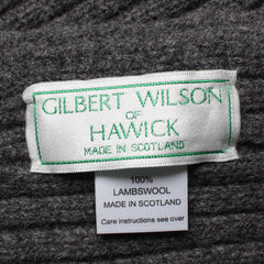 Gilbert Wilson  Lambswool Ribbed Scarf Cliff Grey