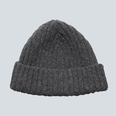 Gilbert Wilson - Ribbed Beanie - Cliff Grey