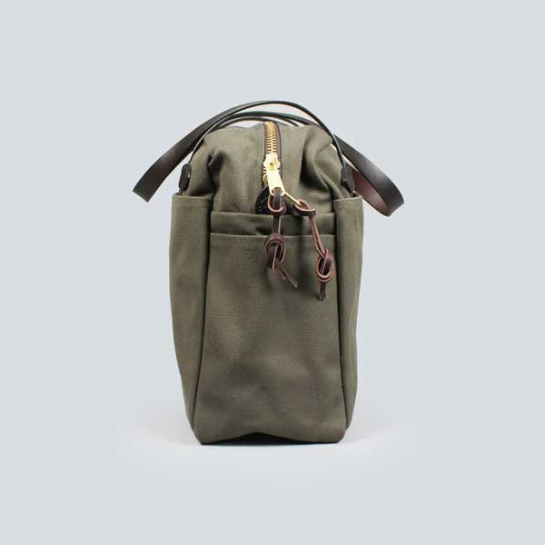 otter green filson zip tote bag - end