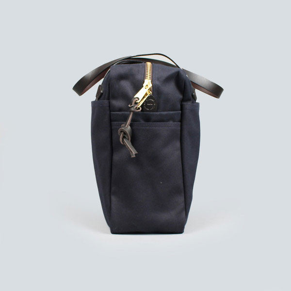 navy filson zip tote bag - end