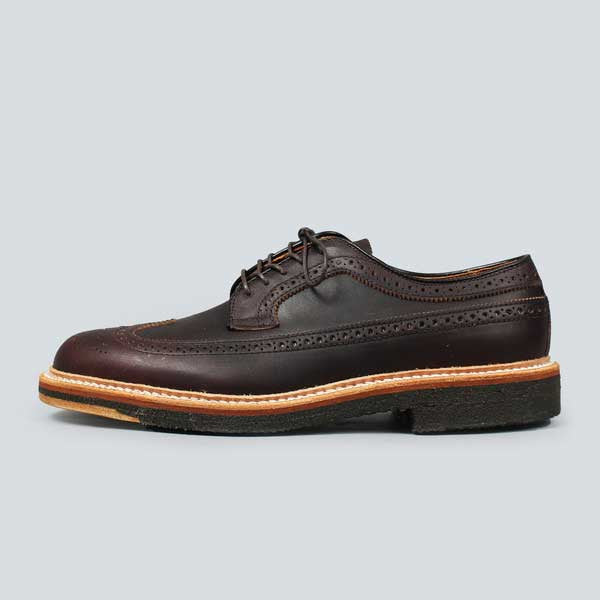 alden longwing  blucher - brown kudo - outer side