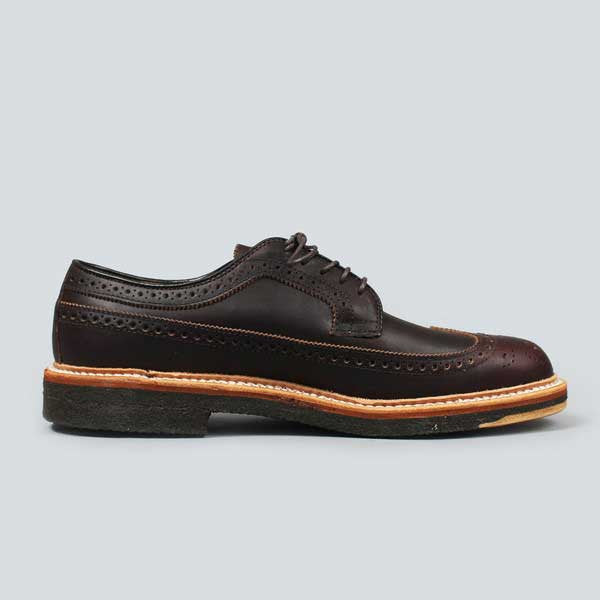alden longwing  blucher - brown kudo - inner side