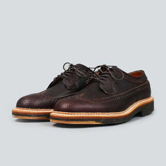 alden longwing  blucher - brown kudo - front on