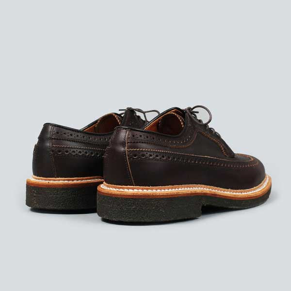 alden longwing  blucher - brown kudo - rear on