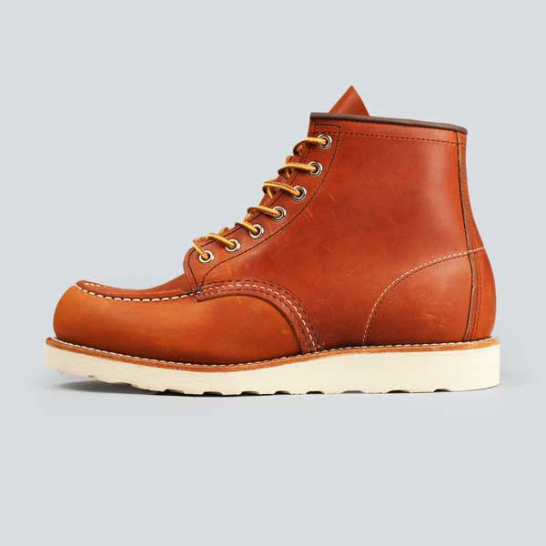 red wing moc toe, oro-iginal - side on