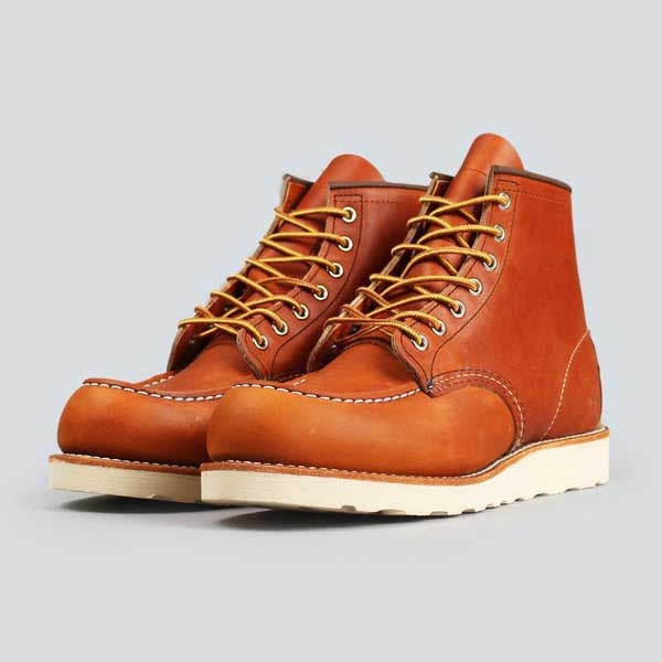 red wing moc toe, oro-iginal - front on