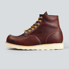 red wing moc toe, briar oil slick - outer side