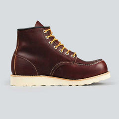 red wing moc toe, briar oil slick - inner side