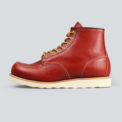red wing moc toe, ore-russet portage - outer side