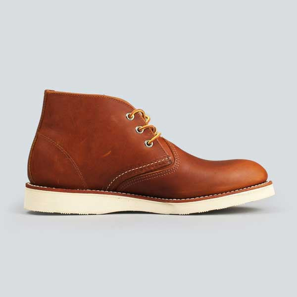 red wing heritage work chukka, copper worksmith - inner side