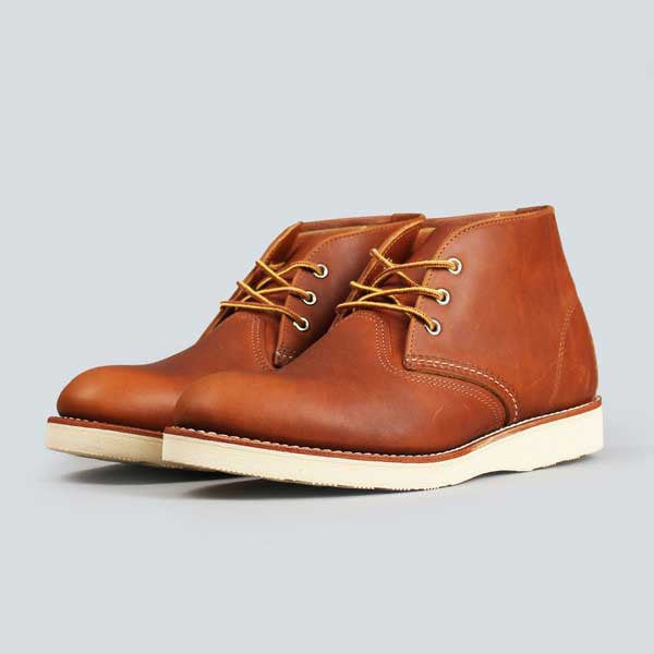 red wing heritage work chukka, copper worksmith - front view