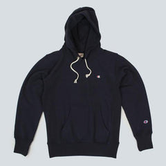 CHAMPION-HOODED SWEATSHIRT-NAVY