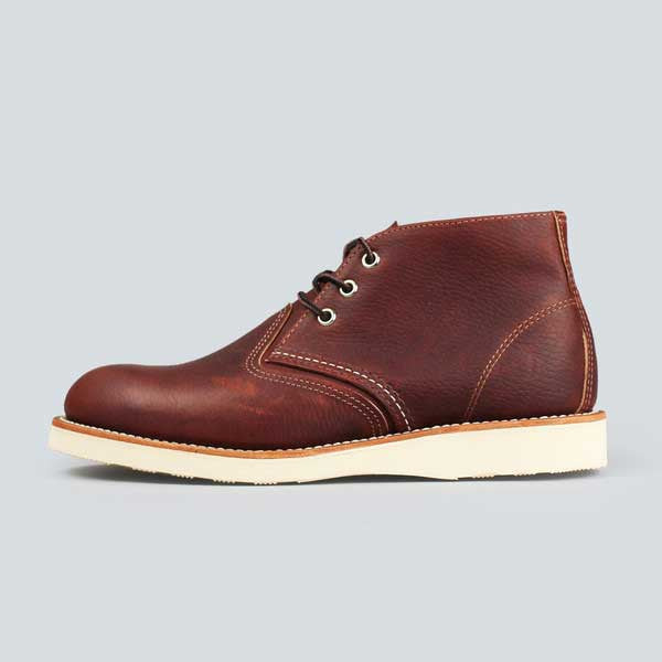 red wing heritage work chukka, briar oil slick - outer side